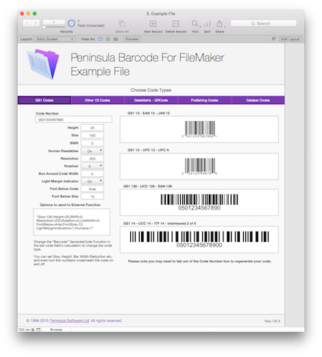 Barcodes for Filemaker