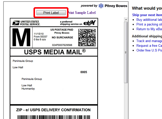 Print Shipping Labels Directly From The Ebay Website To Your Thermal - Ebay invoice print