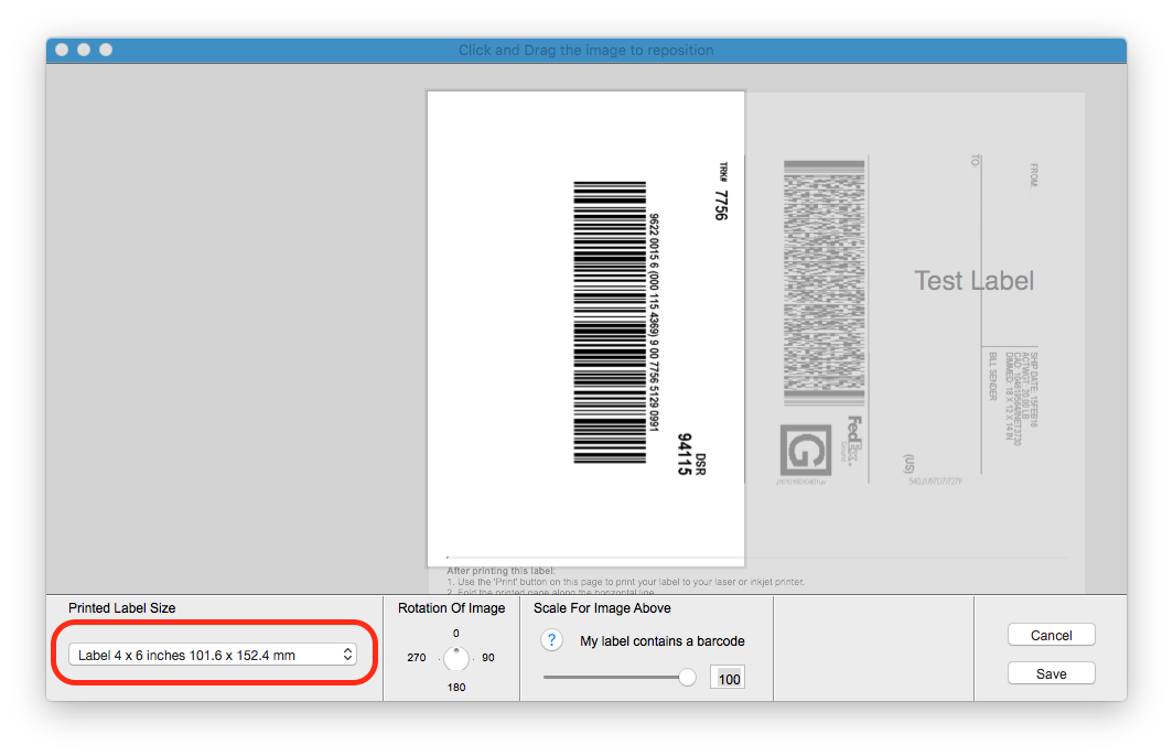 Print shipping labels directly from the Fedex website to